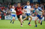 24 June 2017; Darren O'Hagan of Down in action against Fintan Kelly of Monaghan during the Ulster GAA Football Senior Championship Semi-Final match between Down and Monaghan at the Athletic Grounds in Armagh. Photo by Daire Brennan/Sportsfile