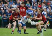 24 June 2017; Fintan Kelly of Monaghan in action against Down players, left to right, Shay Millar, Niall Donnelly, and Jerome Johnston during the Ulster GAA Football Senior Championship Semi-Final match between Down and Monaghan at the Athletic Grounds in Armagh. Photo by Daire Brennan/Sportsfile