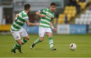 23 June 2017; Ronan Finn of Shamrock Rovers passes to team-mate Brandon Miele during the SSE Airtricity League Premier Division match between Shamrock Rovers and Drogheda United at Tallaght Stadium in Tallaght, Co Dublin. Photo by Piaras Ó Mídheach/Sportsfile