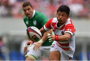 24 June 2017; Fumiaki Tanaka of Japan during the international rugby match between Japan and Ireland in the Ajinomoto Stadium in Tokyo, Japan. Photo by Brendan Moran/Sportsfile