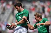 24 June 2017; James Ryan, left, and Kieran Treadwell of Ireland during the warm-up before the international rugby match between Japan and Ireland in the Ajinomoto Stadium in Tokyo, Japan. Photo by Brendan Moran/Sportsfile