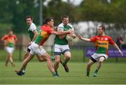 25 June 2017; Mark Gottsche of London in action against Brendan Murphy, left, and Danny Moran during the GAA Football All-Ireland Senior Championship Round 1B match between London and Carlow at McGovern Park in Ruislip, London. Photo by Seb Daly/Sportsfile