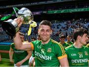 25 June 2017; Paddy Kennelly of Meath celebrates with the cup after the Leinster GAA Football Junior Championship Final match between Louth and Meath at Croke Park in Dublin. Photo by Eóin Noonan/Sportsfile