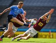 25 June 2017; Dean Rock of Dublin has his shot on goal blocked by Ger Egan, right, and Frank Boyle of Westmeath during the Leinster GAA Football Senior Championship Semi-Final match between Dublin and Westmeath at Croke Park in Dublin. Photo by Ray McManus/Sportsfile