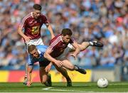 25 June 2017; Callum McCormack of Westmeath in action against Paul Mannion of Dublin during the Leinster GAA Football Senior Championship Semi-Final match between Dublin and Westmeath at Croke Park in Dublin. Photo by Eóin Noonan/Sportsfile