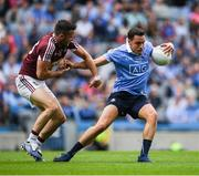 25 June 2017; Shane Carthy of Dublin in action against Noel Mulligan of Westmeath during the Leinster GAA Football Senior Championship Semi-Final match between Dublin and Westmeath at Croke Park in Dublin. Photo by Ray McManus/Sportsfile