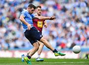25 June 2017; Kevin McManamon of Dublin shoots to score his side's fourth goal during the Leinster GAA Football Senior Championship Semi-Final match between Dublin and Westmeath at Croke Park in Dublin. Photo by Eóin Noonan/Sportsfile