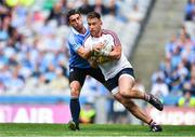 25 June 2017; Darren Quinn of Westmeath in action against Bernard Brogan of Dublin during the Leinster GAA Football Senior Championship Semi-Final match between Dublin and Westmeath at Croke Park in Dublin. Photo by Eóin Noonan/Sportsfile