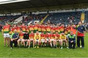 25 June 2017; The St. Broughan's GAA Club, Co. Offaly team before the Boys Division 1 Shield Final at the John West Peile na nÓg national competition which took place this weekend across Cavan, Fermanagh and Monaghan. This is the second year that the Féile na nGael and Féile Peile na nÓg have been sponsored by John West, one of the world's leading suppliers of fish. The competition gives up-and-coming GAA superstars the chance to participate and play in their respective Féile tournament, at a level which suits their age, skills and strengths.   Photo by Matt Browne/Sportsfile