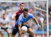 25 June 2017; Bernard Brogan of Dublin in action against Noel Mulligan of Westmeath during the Leinster GAA Football Senior Championship Semi-Final match between Dublin and Westmeath at Croke Park in Dublin. Photo by Ray McManus/Sportsfile
