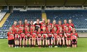 25 June 2017; The Killygarry, Co. Cavan team before the Girls Division 1 Shield Final at the John West Peile na nÓg national competition which took place this weekend across Cavan, Fermanagh and Monaghan. This is the second year that the Féile na nGael and Féile Peile na nÓg have been sponsored by John West, one of the world's leading suppliers of fish. The competition gives up-and-coming GAA superstars the chance to participate and play in their respective Féile tournament, at a level which suits their age, skills and strengths.   Photo by Matt Browne/Sportsfile