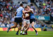 25 June 2017; Ger Egan of Westmeath in action against James McCarthy, left, and Dean Rock of Dublin during the Leinster GAA Football Senior Championship Semi-Final match between Dublin and Westmeath at Croke Park in Dublin. Photo by Daire Brennan/Sportsfile