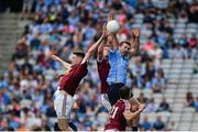 25 June 2017; Jack McCaffrey of Dublin in action against James Dolan, left, and John Heslin of Westmeath during the Leinster GAA Football Senior Championship Semi-Final match between Dublin and Westmeath at Croke Park in Dublin. Photo by Daire Brennan/Sportsfile