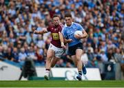 25 June 2017; Eric Lowndes of Dublin in action against Alan Gaughan of Westmeath during the Leinster GAA Football Senior Championship Semi-Final match between Dublin and Westmeath at Croke Park in Dublin. Photo by Daire Brennan/Sportsfile
