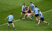 25 June 2017; John Heslin of Westmeath in action against Dublin players, left to right, Darren Daly, James McCarthy, David Byrne, Jack McCaffrey and Kevin McManamon during the Leinster GAA Football Senior Championship Semi-Final match between Dublin and Westmeath at Croke Park in Dublin. Photo by Daire Brennan/Sportsfile