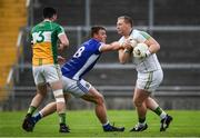 25 June 2017; Alan Mulhall of Offaly is tackled by Liam Buchanan of Cavan during the GAA Football All-Ireland Senior Championship Round 1B match between Offaly and Cavan at O'Connor Park in Tullamore, Co. Offaly. Photo by Ramsey Cardy/Sportsfile