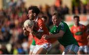 25 June 2017; Jamie Clarke of Armagh in action against Cian McManus of Fermanagh during the GAA Football All-Ireland Senior Championship Round 1B match between Armagh and  Fermanagh at the Athletic Grounds in Armagh. Photo by Philip Fitzpatrick/Sportsfile
