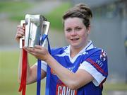 19 February 2012; Waterford Institute of Technology captain Katie Power with the Ashbourne Cup. 2012 Ashbourne Cup Final, University of Limerick v Waterford Institute of Technology, Waterford IT, Waterford. Picture credit: Matt Browne / SPORTSFILE