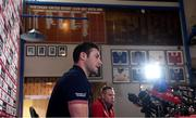 26 June 2017; Robbie Henshaw of the British & Irish Lions during a press conference at Jerry Collins Stadium in Porirua, New Zealand. Photo by Stephen McCarthy/Sportsfile