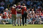 17 June 2017; Paddy Holloway of Westmeath leaves the field after picking up an injury during the Leinster GAA Football Senior Championship Quarter-Final Replay match between Westmeath and Offaly at TEG Cusack Park in Mullingar, Co Westmeath. Photo by Piaras Ó Mídheach/Sportsfile