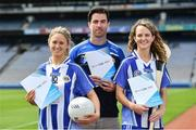 26 June 2017; Ballyboden St Endas ladies footballer Emily Flanagan, left, footballer Michael Darragh Macauley and camogie player Rachel Ruddy at the launch of the One Club Guidelines at Croke Park in Dublin. Photo by Ramsey Cardy/Sportsfile *** NO REPRODUCTION FEE ***