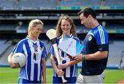 26 June 2017; Ballyboden St Endas ladies footballer Emily Flanagan, left, camogie player Rachel Ruddy and footballer Michael Darragh Macauley at the launch of the One Club Guidelines at Croke Park in Dublin. Photo by Ramsey Cardy/Sportsfile