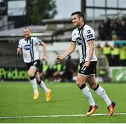 26 June 2017; Patrick McEleney of Dundalk celebrates after scoring his side's second goal during the SSE Airtricity League Premier Division match between Dundalk and Galway United at Oriel Park in Dundalk. Photo by David Maher/Sportsfile
