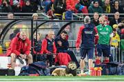 27 June 2017; Robbie Henshaw of the British & Irish Lions watches on from the bench during the match between Hurricanes and the British & Irish Lions at Westpac Stadium in Wellington, New Zealand. Photo by Stephen McCarthy/Sportsfile