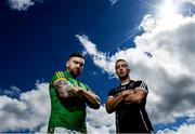 27 June 2017; Meath's Mickey Burke and Sligo's Neil Ewing during a media event ahead of their All Ireland Senior Championship Round 2A match on Saturday at 6pm at Páirc Tailteann in Navan, Co. Meath. Photo by Ramsey Cardy/Sportsfile