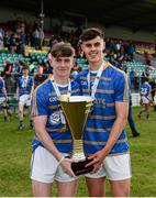 24 June 2017; Aidan Griffin and Cian Mullane of South Tipperary the with Corn Michael Hogan trophy following their side's victory during the Bank of Ireland Celtic Challenge Finals Day #BoICelticChallenge at Netwatch Cullen Park in Carlow. Photo by Seb Daly/Sportsfile