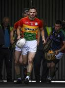 25 June 2017; Martin Kavanagh of Carlow ahead of the GAA Hurling All-Ireland Senior Championship Preliminary Round match between Laois and Carlow at O'Moore Park in Portlaoise, Co. Laois. Photo by Ramsey Cardy/Sportsfile