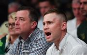 17 June 2017; Carl Frampton, right, and his father Craig at the Battle of Belfast Fight Night at the Waterfront Hall in Belfast. Photo by Ramsey Cardy/Sportsfile