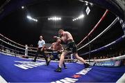 17 June 2017; Paddy Barnes, right, in action against Silvio Olteanu during their WBO European flyweight title bout Photo by Ramsey Cardy/Sportsfile