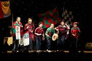18 February 2012; Members of the Caltra GAA Club, Co. Galway, performing in the 'Novelty Act' competition in the All-Ireland Scór na nÓg Final 2012. Royal Theatre & Events Centre, Castlebar, Co. Mayo. Picture credit: Ray McManus / SPORTSFILE