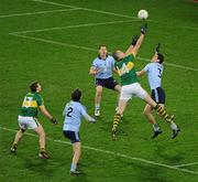 4 February 2012; Kieran Donaghy, Kerry, supported by team-mate James O'Donoghue, left, in action against Michael Fitzsimons, 2, Philly McMahon, centre, and Rory O'Carroll, 3, Dublin. Allianz Football League, Division 1, Round 1, Dublin v Kerry, Croke Park, Dublin. Picture credit: Ray McManus / SPORTSFILE