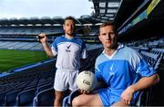 28 June 2017; Dublin footballer Ciaran Kilkenny, right, and Kilkenny hurler Richie Hogan pictured in Croke Park at the launch of Sure deodorant as Official Statistics Partners of the GAA. The 'Never More Sure' campaign gives fans a chance to win a seat for the season in Croke Park. Photo by Brendan Moran/Sportsfile