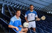 28 June 2017; Dublin footballer Ciaran Kilkenny, left, and Kilkenny hurler Richie Hogan pictured in Croke Park at the launch of Sure deodorant as Official Statistics Partners of the GAA. The 'Never More Sure' campaign gives fans a chance to win a seat for the season in Croke Park. Photo by Brendan Moran/Sportsfile