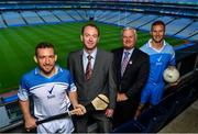 28 June 2017; Kilkenny hurler Richie Hogan, left, and Dublin footballer Ciaran Kilkenny with Peter Hatton, Head of Marketing Personal Care, Unilever Ireland, and Uachtarán Chumann Lúthchleas Gael Aogán Ó Fearghail, pictured in Croke Park at the launch of Sure deodorant as Official Statistics Partners of the GAA. The 'Never More Sure' campaign gives fans a chance to win a seat for the season in Croke Park. Photo by Brendan Moran/Sportsfile