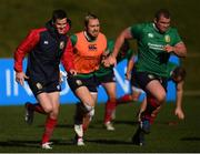 29 June 2017; Jonathan Sexton, left, Jack Nowell and Jack McGrath, right, during a British and Irish Lions training session at Jerry Collins Stadium in Porirua, New Zealand. Photo by Stephen McCarthy/Sportsfile