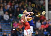 29 June 2017; Conor Bowe of Tipperary in action against Aaron Walsh Barry of Cork during the Electric Ireland Munster GAA Hurling Minor Championship Semi-Final match between Tipperary and Cork at Semple Stadium in Thurles, Co Tipperary. Photo by Eóin Noonan/Sportsfile