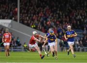 29 June 2017; Conor Bowe of Tipperary in action against Diarmuid Linehan of Cork during the Electric Ireland Munster GAA Hurling Minor Championship Semi-Final match between Tipperary and Cork at Semple Stadium in Thurles, Co Tipperary. Photo by Eóin Noonan/Sportsfile