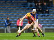 29 June 2017; James Keating of Cork in action against Anthony McKelvey of Tipperary during the Electric Ireland Munster GAA Hurling Minor Championship Semi-Final match between Tipperary and Cork at Semple Stadium in Thurles, Co Tipperary. Photo by Eóin Noonan/Sportsfile