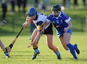 18 February 2012; Natalia Hyland, University College Dublin, in action against Katie Power, Waterford Institute of Technology. 2012 Ashbourne Cup Semi-Final B, Waterford Institute of Technology v University College Dublin, Waterford IT, Waterford. Picture credit: Matt Browne / SPORTSFILE