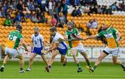 1 July 2017; Jamie Barron of Waterford in action against, from left, Sean Ryan, Ben Conneely and Shane Kinsella of Offaly during the GAA Hurling All-Ireland Senior Championship Round 1 match between Offaly and Waterford at Bord na Móna O'Connor Park in Tullamore, Co Offaly. Photo by Sam Barnes/Sportsfile