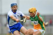 1 July 2017; Paddy Murphy of Offaly in action against Michael Walsh of Waterford during the GAA Hurling All-Ireland Senior Championship Round 1 match between Offaly and Waterford at Bord na Móna O'Connor Park in Tullamore, Co Offaly. Photo by Sam Barnes/Sportsfile