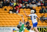 1 July 2017; Shane Bennett of Waterford beats Ben Conneely of Offaly on his way to scoring his sides first goal during the GAA Hurling All-Ireland Senior Championship Round 1 match between Offaly and Waterford at Bord na Móna O'Connor Park in Tullamore, Co Offaly. Photo by Sam Barnes/Sportsfile