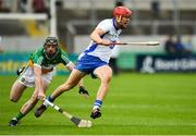 1 July 2017; Tadhg de Burca of Waterford in action against Ben Conneely of Offaly during the GAA Hurling All-Ireland Senior Championship Round 1 match between Offaly and Waterford at Bord na Móna O'Connor Park in Tullamore, Co Offaly. Photo by Sam Barnes/Sportsfile