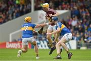 1 July 2017; Niall Mitchell of Westmeath in action against Padraic Maher, left, and Tomas Hamill of Tipperary during the GAA Hurling All-Ireland Senior Championship Round 1 match between Tipperary and Westmeath at Semple Stadium in Thurles, Co Tipperary. Photo by Diarmuid Greene/Sportsfile