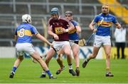 1 July 2017; Tommy Doyle of Westmeath is blocked down by Brendan Maher, left, Dan McCormack, and Seamus Callanan of Tipperary during the GAA Hurling All-Ireland Senior Championship Round 1 match between Tipperary and Westmeath at Semple Stadium in Thurles, Co Tipperary. Photo by Diarmuid Greene/Sportsfile