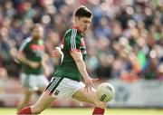 1 July 2017; Conor Loftus of Mayo shoots to score his side's first goal during the GAA Football All-Ireland Senior Championship Round 2A match between Mayo and Derry at Elverys MacHale Park, in Castlebar, Co Mayo. Photo by David Maher/Sportsfile